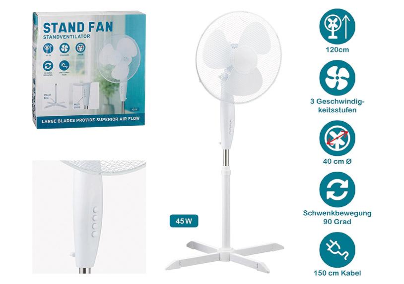 ventilátor na stojanu  ⌀40x120 cm, plast