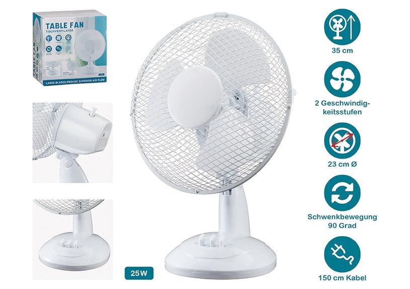 stolní ventilátor ⌀23 cm, plast