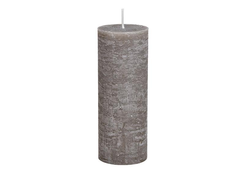 svíčka TAUPE 7x7x18 cm