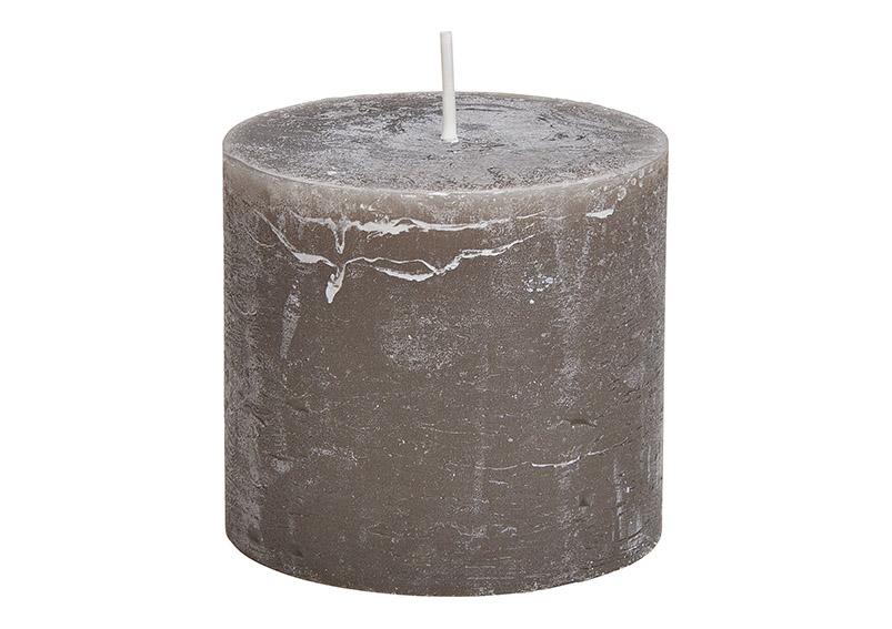 svíčka TAUPE 10x10x9 cm