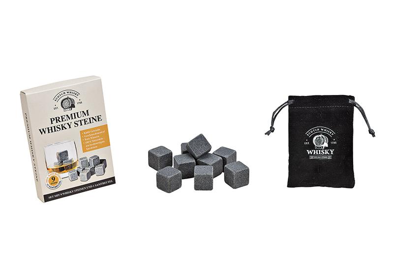 whisky sada chladících kamenů v kartonové krabičce 14x10x2 cm