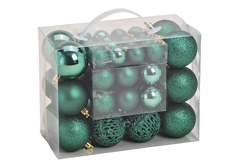 sada padesát ozdob GREEN ⌀ 3/4/6 cm, plast