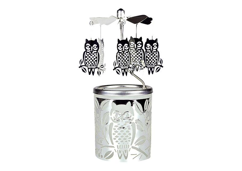 andělské zvonění OWL 6x6x15 cm, sklo a kov