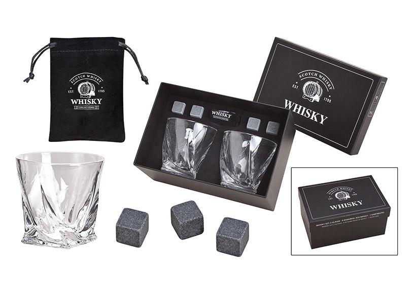 dárková sada na whisky v kartonové krabičce 23x11x15 cm