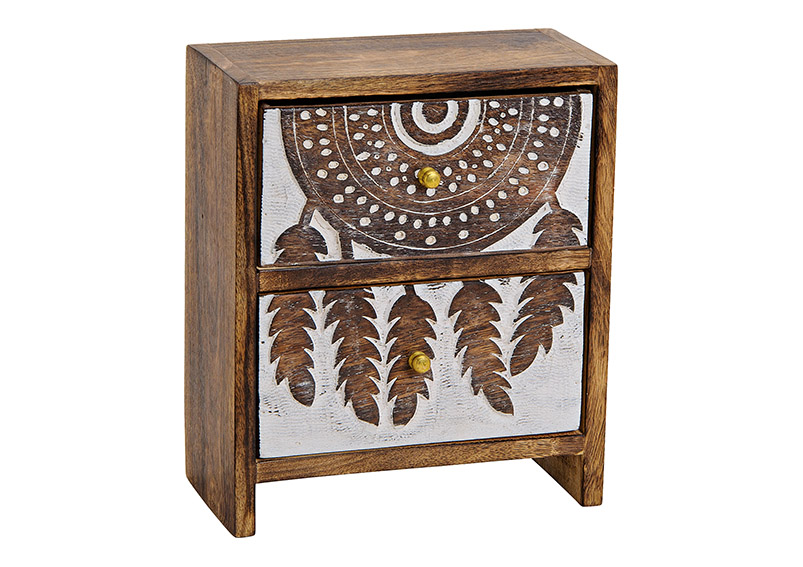šperkovnice DREAMCATCHER 20x24x10 cm, mangové dřevo