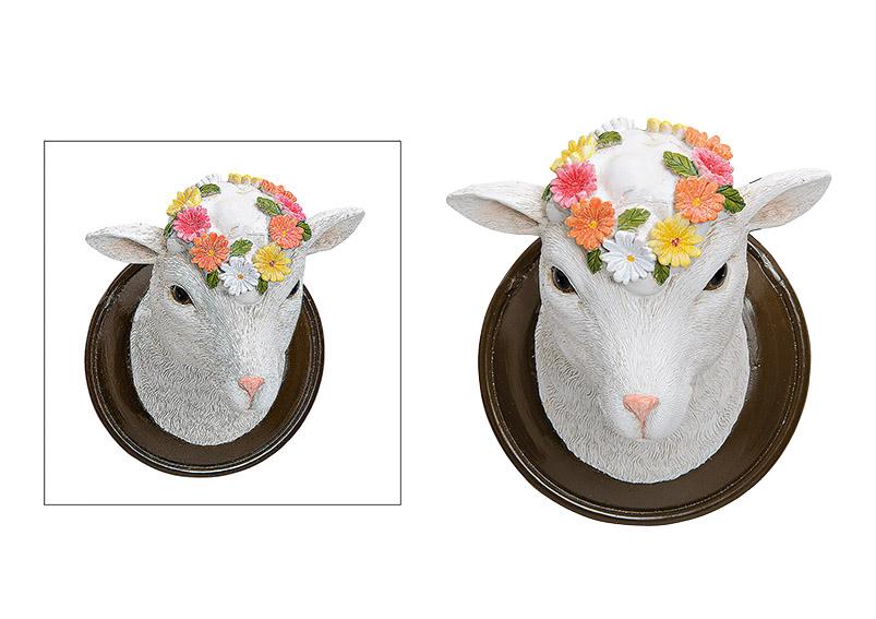 nástěnná dekorace SHEEP 12x14x10 cm, polyresin