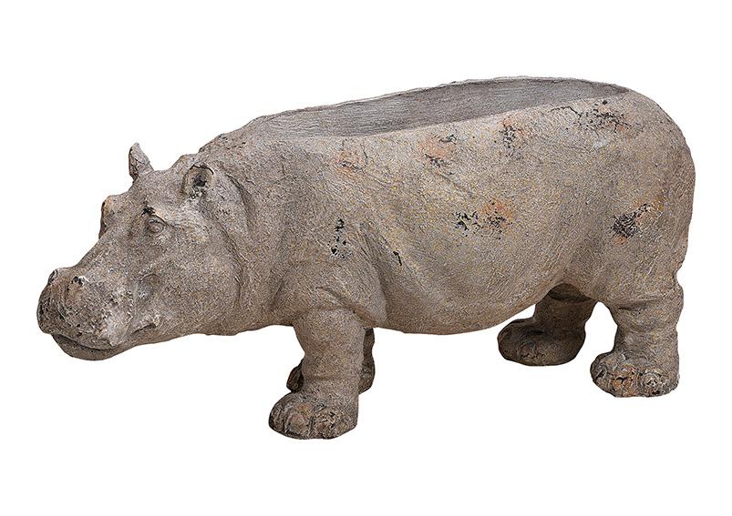 květináč HIPPO 37x16x13 cm, polyresin