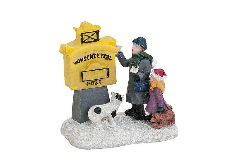 děti u poštovní schránky 5x4x6 cm, polyresin