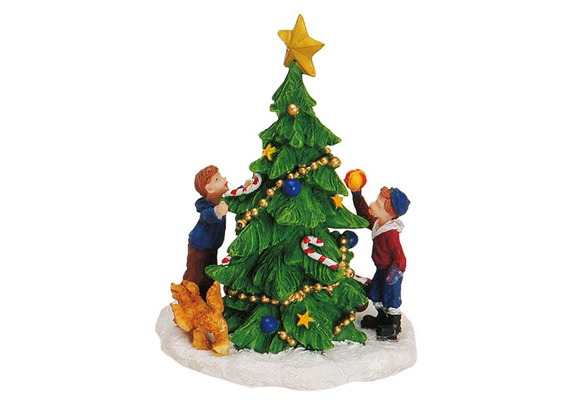 zdobení vánočního stromečku 8x11 cm, polyresin